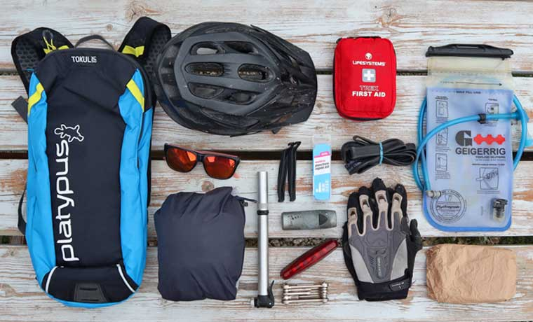 Essentials for mountain biking