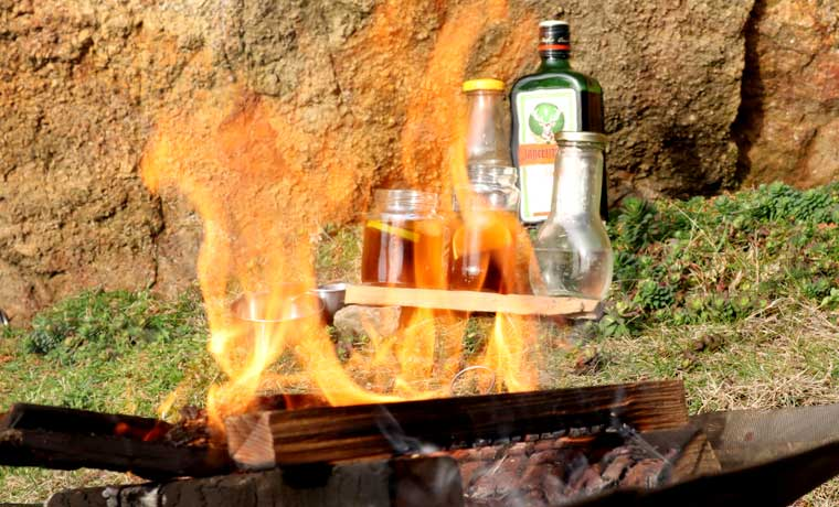 Campfire cocktail