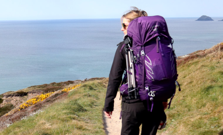 Hiking carrying Osprey Tempest 50 Backpack